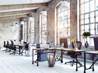 Büroeinrichtung für förderliche Arbeitsatmosphäre